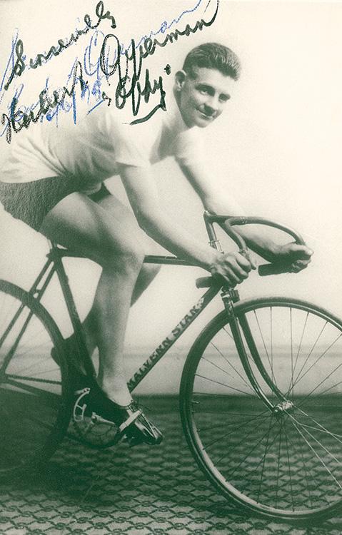 Oppy riding Malvern Star bikes